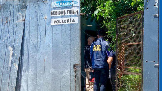 La casa donde se produjo el homicidio de un hombre de identidad paraguaya.