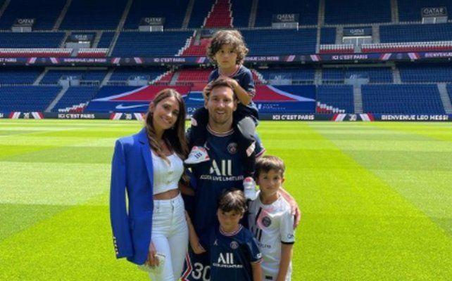 Lionel Messi junto a su familia: Antonela Ruccuzzo
