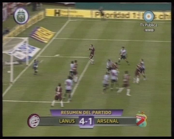 Lanús goleó a Arsenal 4 a 1 y sueña con ingresar a la Copa Sudamericana