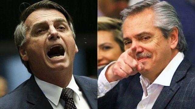 Bolsonaro criticó a Alberto Fernández por impulsar la ley del aborto