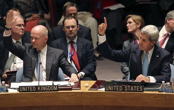 Los ministros de Exterior de Reino Unido y EEUU votaron en el Consejo para dar mayor relieve a la sesión.