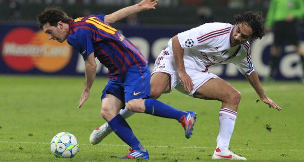 Barcelona derrotó a Milan con dos goles de Messi y uno de Iniesta  y pasó a semifinales