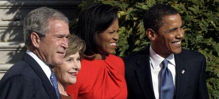 Por primera vez, Obama y Bush hablaron a solas en la Casa Blanca