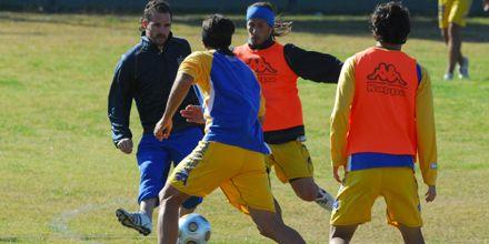 Russo incluyó a Alvarez dentro de los once que participaron del trabajo táctico