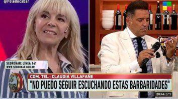 Explotó Claudia Villafañe y salió al cruce del abogado de Morla en un programa de TV