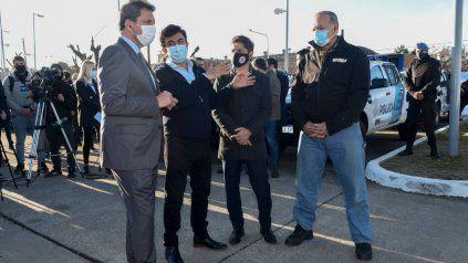Sergio Massa junto al gobernador de Buenos Aires, Axel Kiciloff.