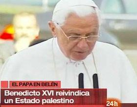 El Papa Benedicto XVI respaldó en Belén la creación de un Estado palestino