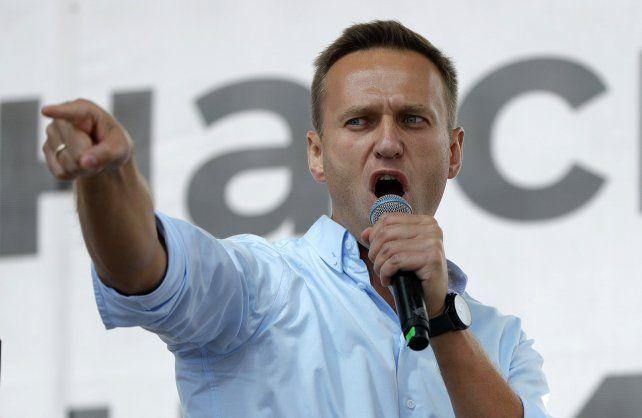 Alexei Navalny durante un acto. Ya derrotó a los partidarios de Putin en Moscú.