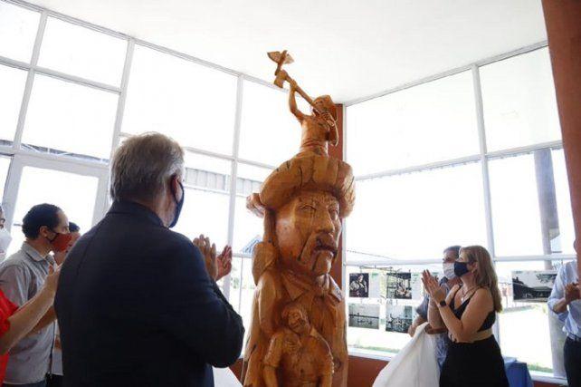 Reconocimiento. Se inauguró una obra en honor de Teófilo Lafuente