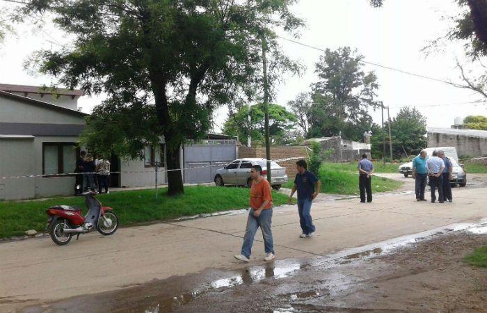 La escena del crimen que conmueve a Firmat. (Foto: Firmat24.com)