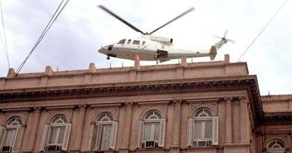 De la Rúa admitió que fue un error irse de la Rosada en helicóptero en diciembre del 2001