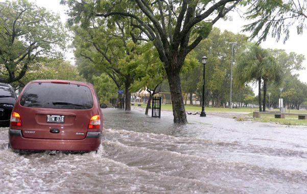Anegamientos. La ciudad podría verse inundada en varios sectores a raíz de las crecidas de los cursos de agua y las precipitaciones.