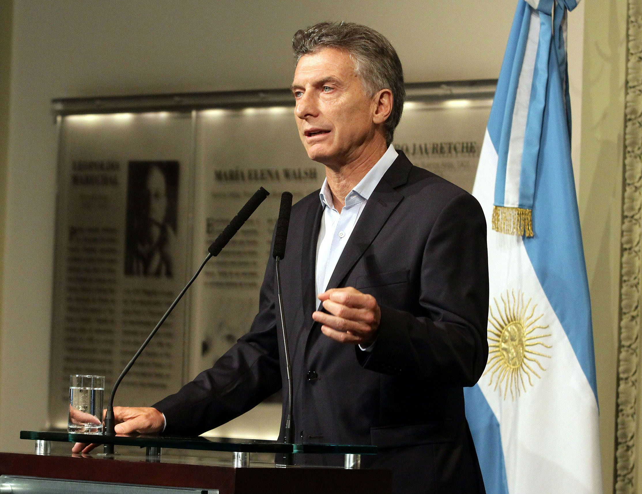 Macri fustigó a la dirigente de la Túpac Amaru.