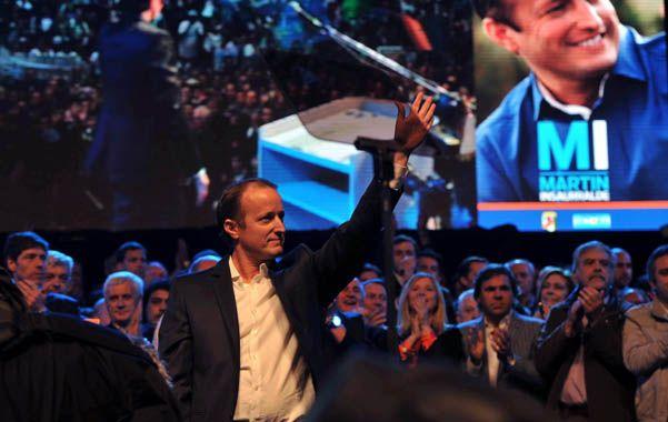 El candidato. Insaurralde cerró la campaña de local en Lomas de Zamora.