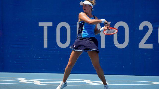 Nadia Podoroska contrarrestó muy bien la potencia de la rusa Aleksandrova y se llevó una nueva victoria para seguir soñando en Tokio.