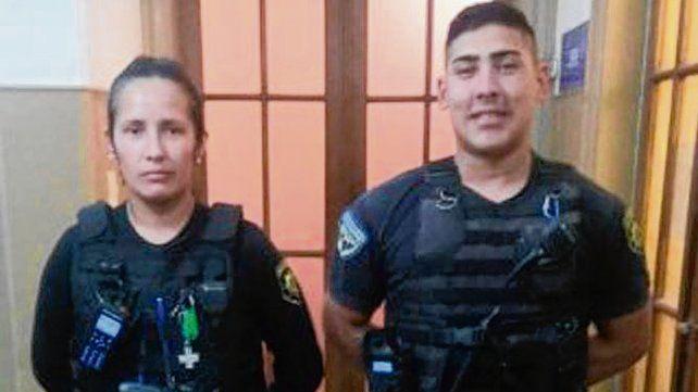 Protagonistas. Los suboficiales Virginia Flores.y Francisco Amarilla.
