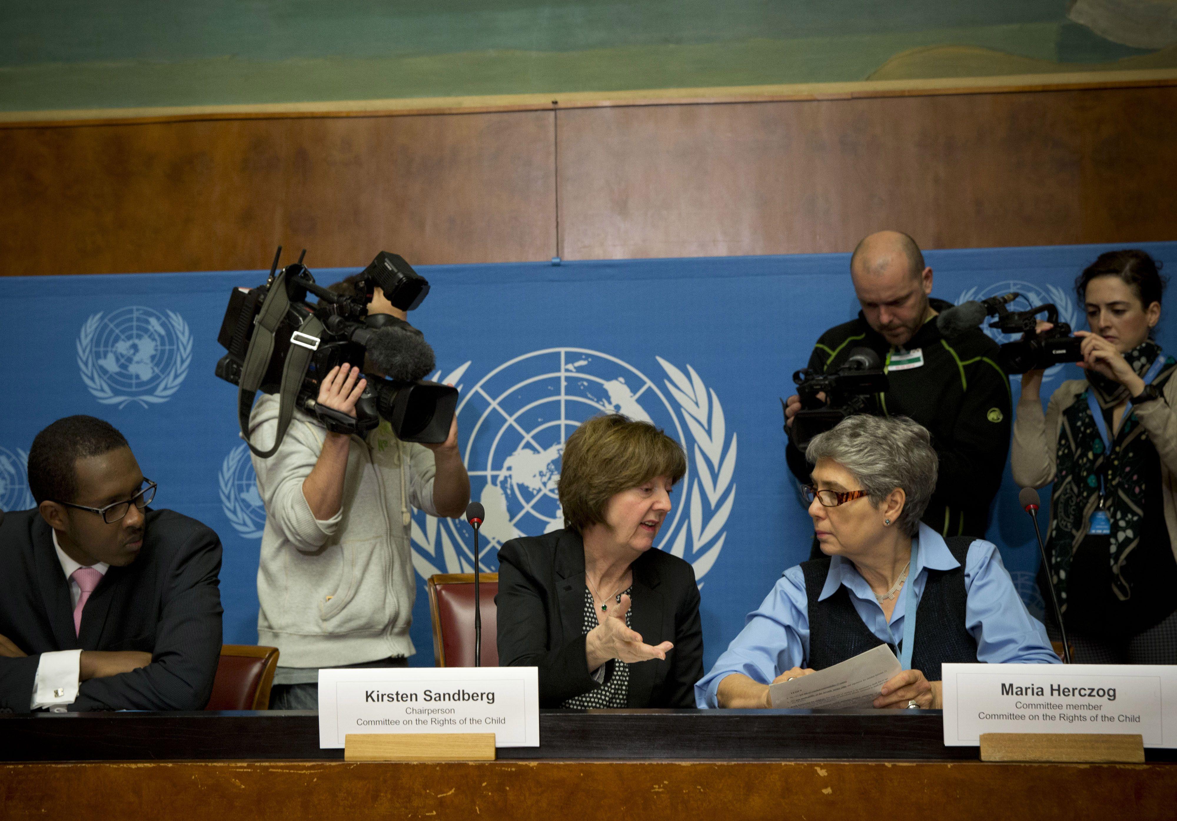 La presidenta del comité de la ONU