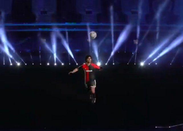 Video: el emotivo homenaje a Maradona en la previa del debut de Argentina