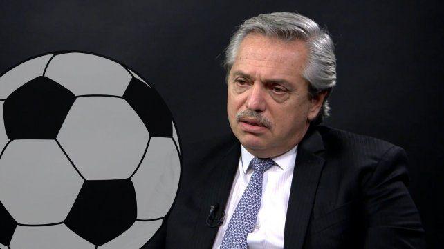 El presidente Aníbal Fernández se metió en el tema del fútbol y espera que la AFA resuelva.