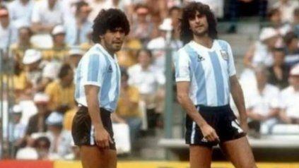 Diego Maradona y Mario Kempes compartieron el plantel de la selección argentina en el Mundial de España 82.