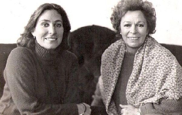 Dos talentos. Alejandra da Passano junto a su madre