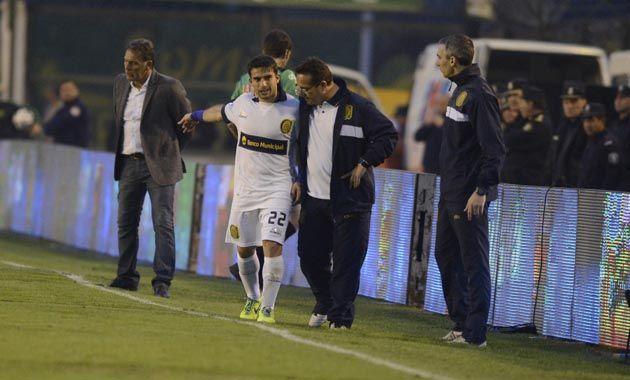 Franco Niell fue reemplazado por Becker después de jugar solo cinco minutos en el segundo tiempo. (Foto: G. de los Rios)
