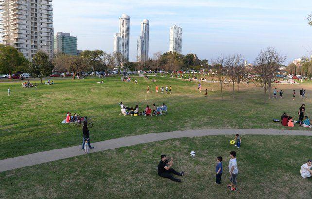 El incidente ocurrió en el parque Scalabrini Ortiz.