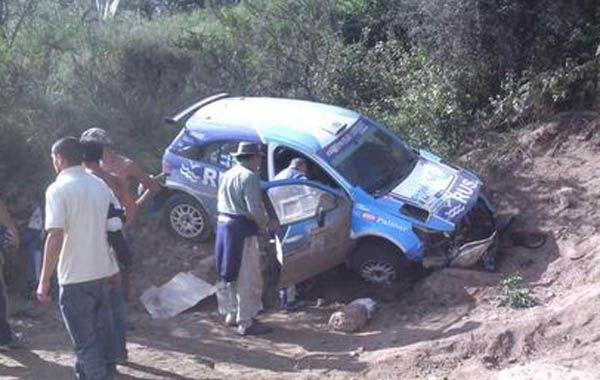 El Chevrolet que conducía Nalbandian volcó cerca de Ascochinga.