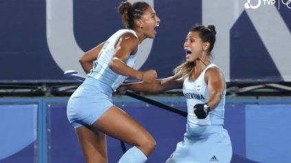 Rompió el cero. Valentina Raposo marcó el tanto que ponía en ventaja al equipo albiceleste.