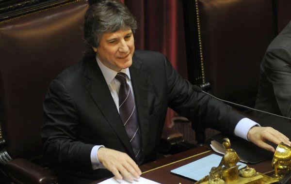 Amado Boudou fue el centro de atención. La aprobación a la iniciativa se logró con 44 votos.