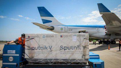 Argentina recibió la semana pasada más de medio millón de dosis del componente dos de Sputnik V.
