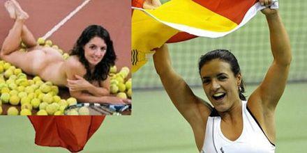 Las chicas se desnudan en Roland Garros