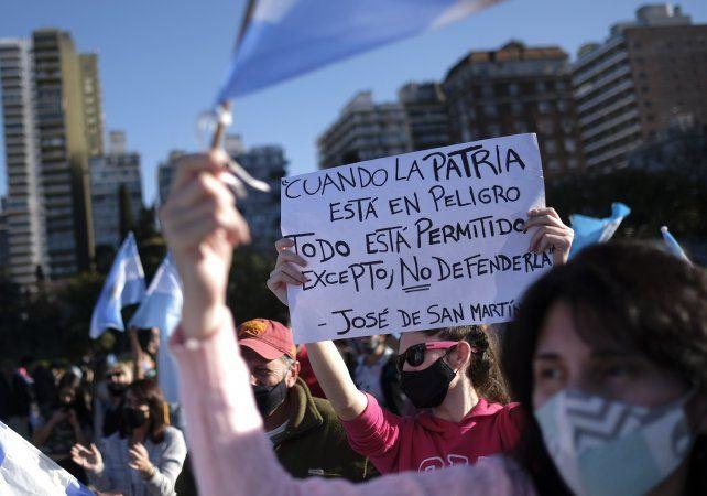 La manifestación contra el gobierno nacional se realizó en distintos puntos del país.
