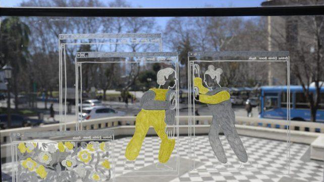 El Proyecto Ventana visibiliza las intervenciones de tres artistas rosarinos.