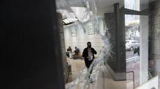 El frente de Empleados de Comercio amaneció este viernes con impactos de bala.