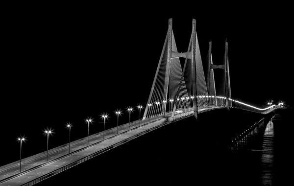 El Puente Rosario - Victoria de noche