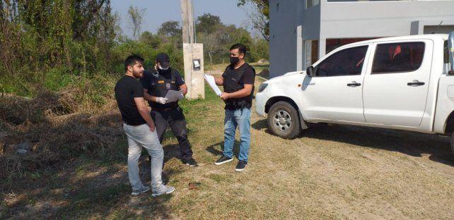 El empresario Max Talavera fue detenido ayer en Laguna Blanca (Formosa) acusado de estafar a varias personas.