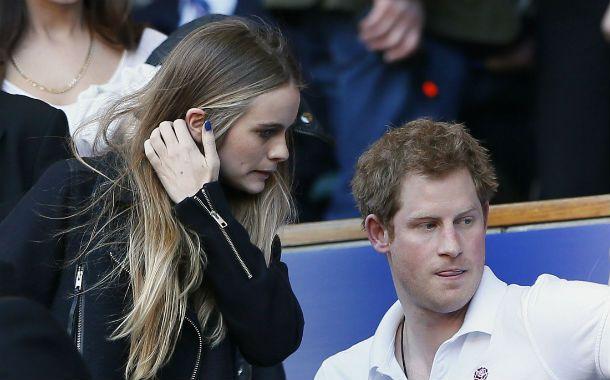 Siempre juntos. Harry y Cressida durante un partido del Seis Naciones.