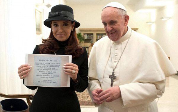 Encuentro cumbre. Cristina visitó a Francisco en la víspera de su asunción como primer Papa latinoamericano.