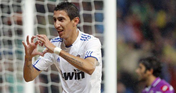Di María entrenó hoy normalmente en el Real y podría jugar el clásico ante Atlético