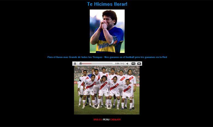 Hackean la página oficial de Maradona en Internet y lo tildan de llorón