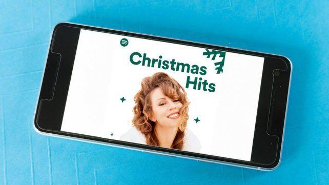 Los clásicos navideños rankean bien alto en Spotify cuando llega fin de año.