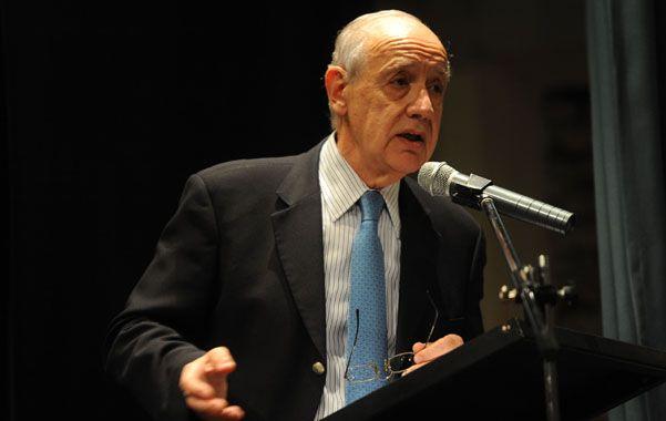 """Duro. El ex ministro Lavagna se quejó de los """"acreedores recalcitrantes"""". (foto: Sebastián Suárez Meccia)"""