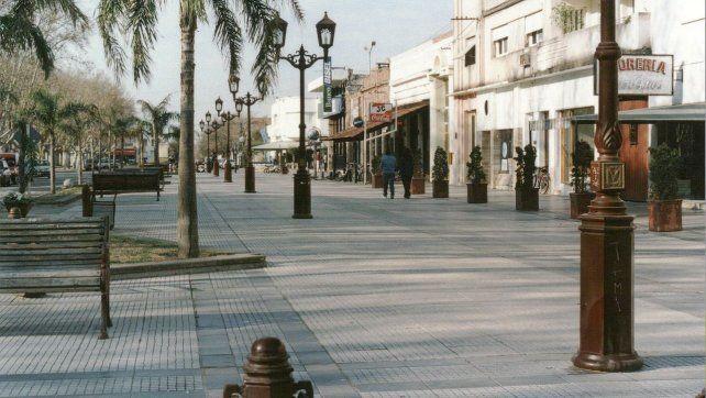 Microcentro de la ciudad de Casilda.