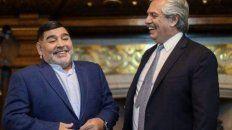 Alberto Fernández elogió a Maradona en el día de su cumpleaños.