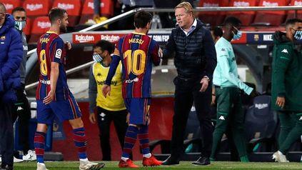"""""""Desde que supimos la noticia de que Messi no seguía fue un palo para todo el mundo porque pierdes al mejor del mundo"""", afirmó Koeman."""