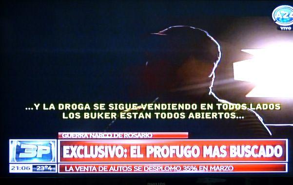 A oscuras. Ramón Machuca fue entrevistado en la clandestinidad y su abogado dijo reconocerlo por la voz y la imagen.