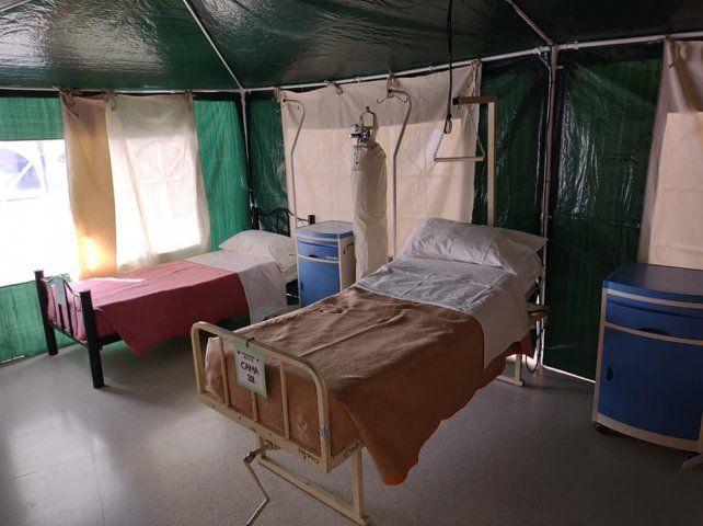 Se colocaron diez camas para pacientes internados con Covid-19, pero con alta epidemiológica en el Dr Gutiérrez