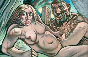 Pagan u$s 24 mil por una pintura de Madonna y su ex marido desnudos