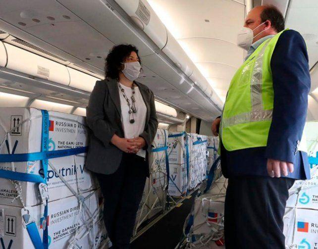 Aeropuerto de Ezeiza. Argentina recibió más de siete millones de dosis de vacunas contra el Covid-19.